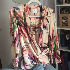Anthropologie HD in Paris blouse top size 04